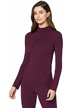 IRIS & LILLY Iris&Lilly Women's Thermal Top in Lightweight Turtleneck Baselayer Slim Fit