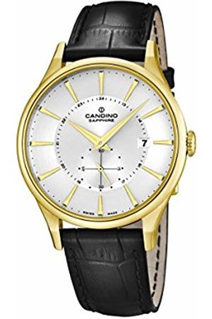 Candino Men's Quartz Watch with Dial Analogue Display and Leather Strap C4559/1