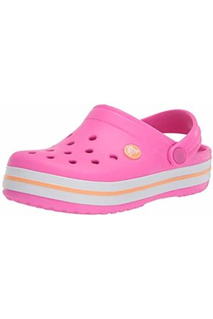 Crocs Crocband Clog K, Unisex-Child Clogs, (Electric /Cantaloupe 6qz)
