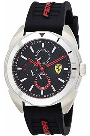 Scuderia Ferrari Mens Multi dial Quartz Watch with Silicone Strap 0830546