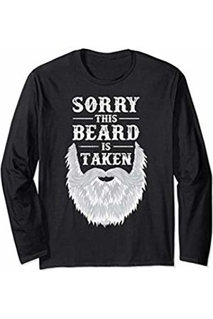 Funny Beard Lover Gift Sorry This Beard is Taken Beard Lover Funny Bearded Man Gift Long Sleeve T-Shirt