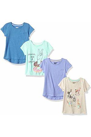Spotted Zebra 4-pack Short-sleeve T-shirts Llama Drama, Medium (8) US