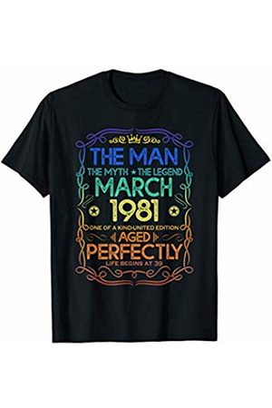 Legend born in March 1981 39th Birthday Gift The Man Myth Legend March 1981 39th Birthday Gift T-Shirt