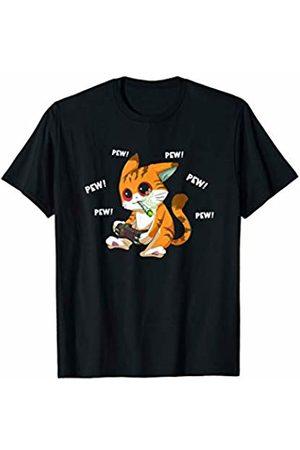 Cannabis Gamer Shop Video Game Cat Smoking Weed | Cannabis Lover Gamer Marijuana T-Shirt