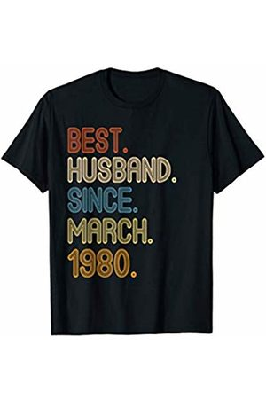 40th Wedding Anniversary Gift for Husband 40th Wedding Anniversary Gifts Husband Since March 1980 T-Shirt