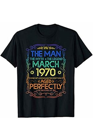 Legend born in March 1970 50th Birthday Gift The Man Myth Legend March 1970 50th Birthday Gift T-Shirt