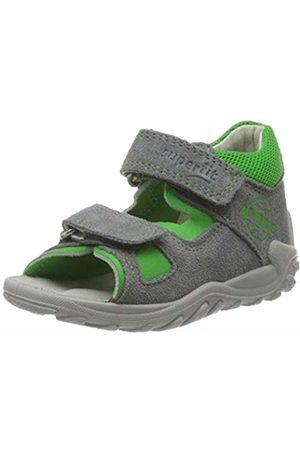 Superfit Baby Boys' Flow Sandals, (Hellgrau/Grün 25)