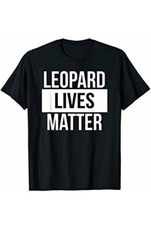 Nocturnal Hunting Animal Leopard Gifts Leopard Lives Matter Funny Jungle Animal Pun T-Shirt