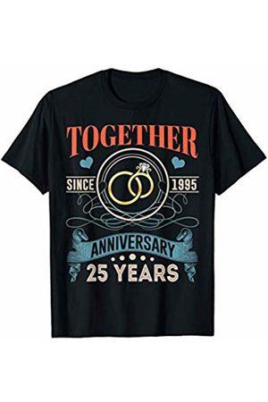 BNY Wedding Anniversary Shirts 25th Wedding Anniversary Shirt Together Since 1995 T-Shirt