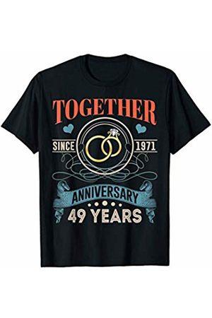 BNY Wedding Anniversary Shirts 49th Wedding Anniversary Shirt Together Since 1971 T-Shirt