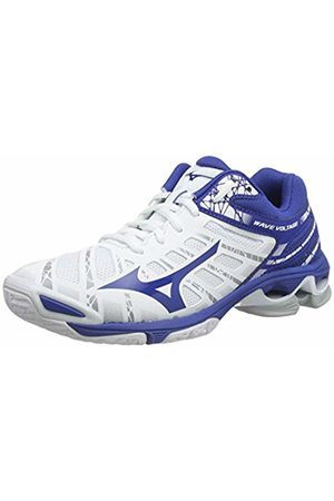 Mizuno Unisex Adult's Wave Voltage Volleyball Shoes, (Wht/Trueblue 21)