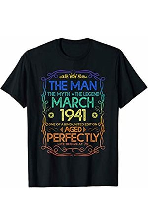 Legend born in March 1941 79th Birthday Gift The Man Myth Legend March 1941 79th Birthday Gift T-Shirt