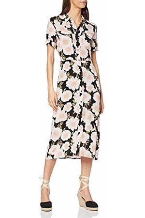 warehouse Women's Gardinia Floral Print Midi Shirt Dress Casual