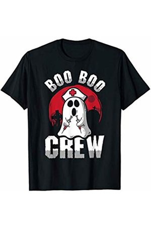 Funny Halloween Ghost Nurse Gift Costume Boo Boo Crew Nurse Ghost Funny Halloween Costume Gift T-Shirt