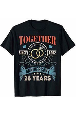 BNY Wedding Anniversary Shirts 28th Wedding Anniversary Shirt Together Since 1992 T-Shirt