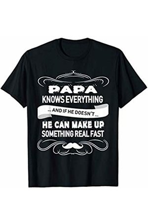 Gifts for Daddy SL Mens Papa Knows Everything Funny Father´s Day Gift T-Shirt