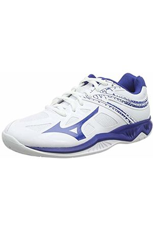 Mizuno Unisex Kid's Lightning Star Z5 JR Volleyball Shoes, (Wht/Trueblue 21)
