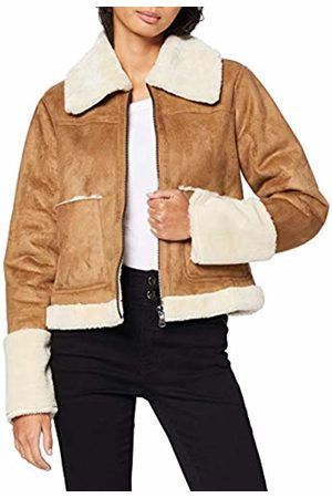 FIND Women's Shearling and Suede Look Jacket