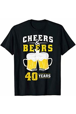 Cheers & Beers Birthday Anniversary Shirts & Gifts Cheers and Beers 40 Years Funny 40th Birthday Alcohol Beer T-Shirt