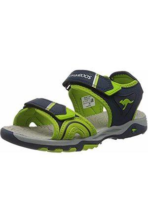KangaROOS Trainers - Unisex Kids' K-Track Low-Top Sneakers, (Dk Navy/Lime 4054)
