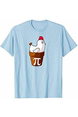 Miftees Chicken Pot Pi Funny Pie Day Cartoon Chicken Pot Pi T-Shirt