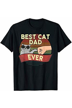 Funny Dad Cat Lover Gifts Mens Best Cat Dad Ever Funny Vintage Kitten Daddy Father Day Gift T-Shirt