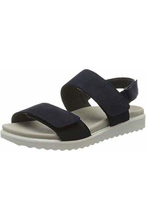 Legero Women's Savona Ankle Strap Sandals, (True (Blau) 82)