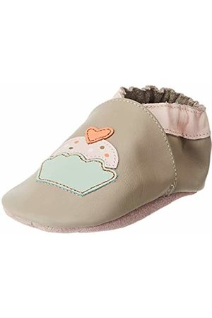 Robeez Baby Girls' Love Cake Slippers, (GRIS Taupe Rose 123)