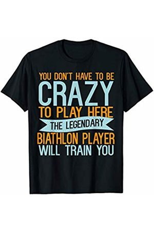 Sports Lover Gifts God Be With Sport Player Sports Lover Gifts God Be With Biathlon Player T-Shirt