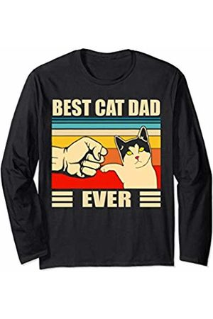 Best Cat Dad Ever Funny Cat Dad Gift Best Cat Dad Ever Funny Cat Daddy Man Fathers Day Gift Long Sleeve T-Shirt