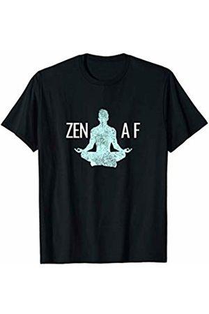 MGs Yoga Designs Zen AF Funny Yoga Meditation Namaste T-Shirt