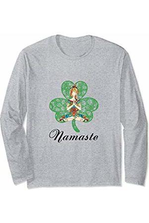 Flower Children Store Namaste Women Yoga Shamrock Long Sleeve T-Shirt
