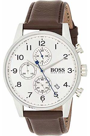 HUGO BOSS Men's Chronograph Quartz Watch with Leather Strap - 1513495