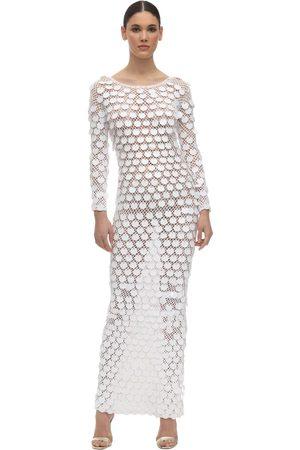 In the Mood for Love Women Dresses - Sequin Crochet Long Dress