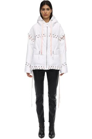 KHRISJOY Hooded Down Jacket W/laces