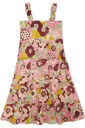 DODO BAR OR Flower Print Cotton Midi Dress