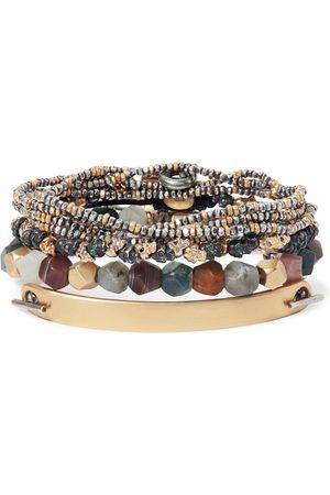 M. COHEN Men Bracelets - Stack 1 Set Of Four Sterling Silver And 18-karat Multistone Bracelets