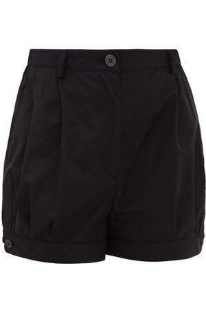 Prada High-rise Buttoned-cuff Cotton Shorts - Womens