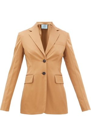 Prada Single-breasted Cotton-blend Gabardine Suit Jacket - Womens