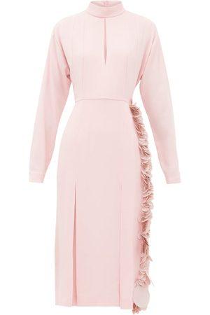 Prada Paillette-trimmed Crepe Dress - Womens
