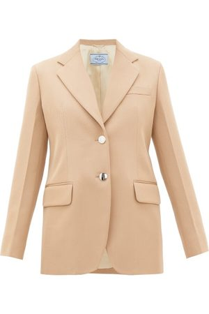 Prada Single-breasted Virgin-wool Gabardine Blazer - Womens