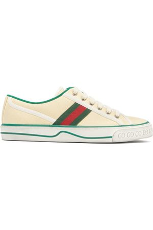 Gucci Tennis 1977 Canvas Trainers - Womens - Cream Multi