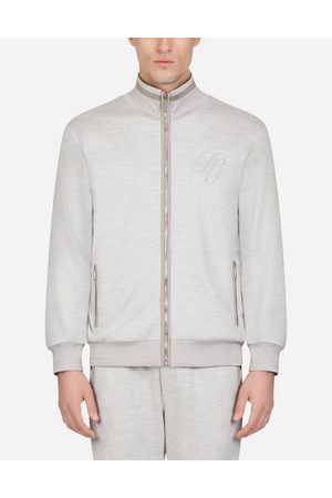 Dolce & Gabbana Sweatshirts - ZIP-UP COTTON AND SILK SWEATER WITH EMBROIDERY