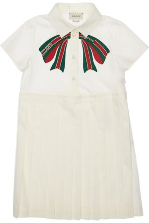 Gucci Pleated Stretch Cotton Poplin Dress