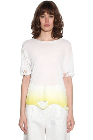 UNRAVEL Distressed Degradé Jersey T-shirt