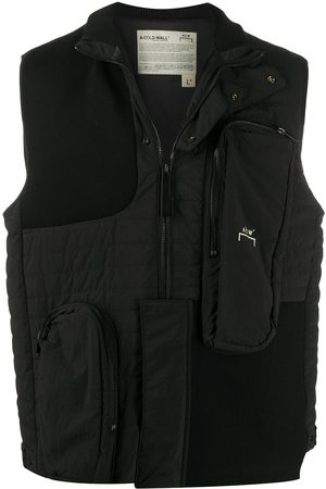 A-cold-wall* Logo printed zipped gilet