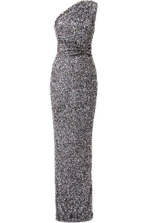 RACHEL GILBERT Reed embellished long gown