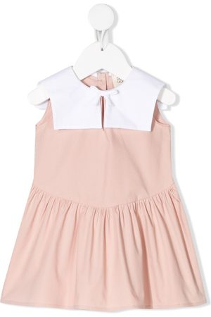 DOUUOD KIDS Baby Casual Dresses - Color-block tiered dress
