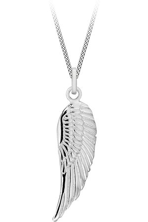 The Love Silver Collection Sterling Simple Angel Wing Pendant Necklace