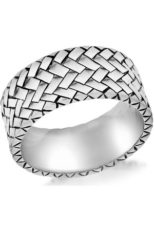 The Love Silver Collection Sterling Herringbone Ring